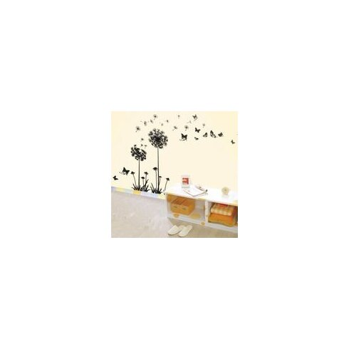 Transparent Dandelion Flowers Wall Sticker