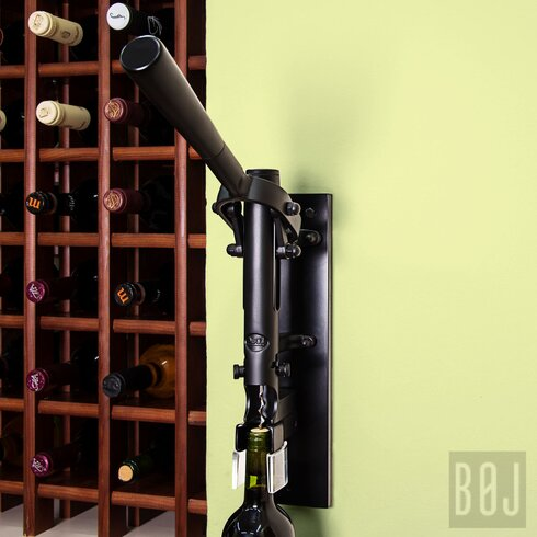 Wall Mounted Corkscrew with Wood Backing