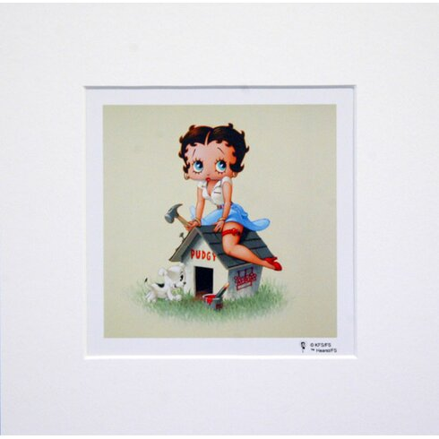 Betty Boop Dog House Graphic Art