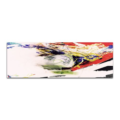 Enigma Panorama Abstrakt 370 Framed Graphic Print on Canvas