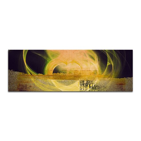 Enigma Panorama Abstrakt 134 Framed Graphic Print on Canvas