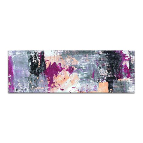 Enigma Panorama Abstrakt 006 Framed Graphic Print on Canvas