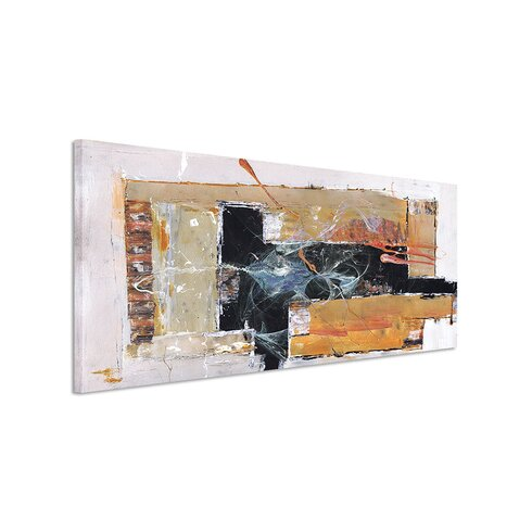 Enigma Panorama Abstrakt 1376 Framed Graphic Print on Canvas