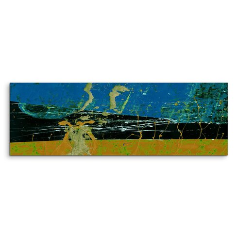 Enigma Panorama Abstrakt 662 Framed Graphic Print on Canvas