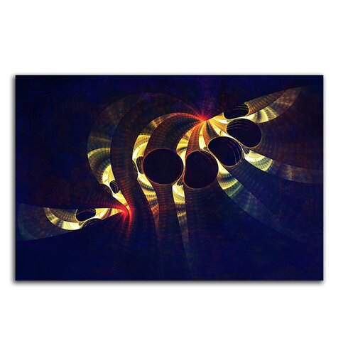 Abstract 354 Enigma Framed Graphic Print on Canvas