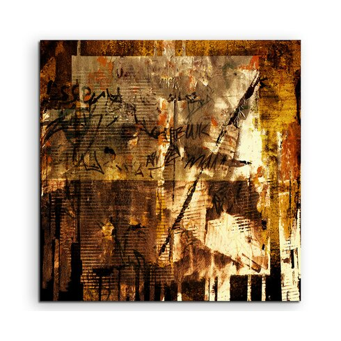 Abstract 938 Enigma Framed Graphic Print on Canvas