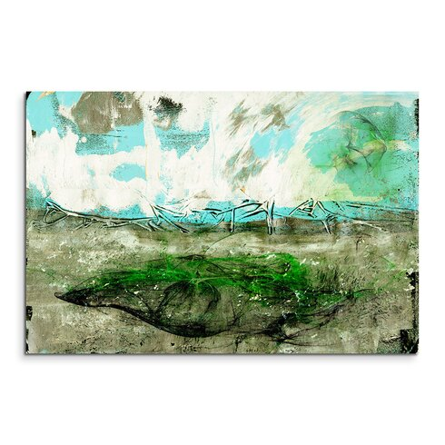 Abstract 772 Enigma Framed Graphic Print on Canvas