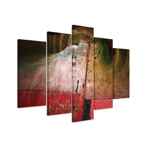 Enigma Skulptur Abstrakt 1177 Painting Print on Canvas Set