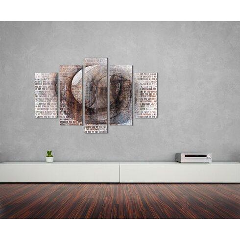 Enigma Skulptur Abstrakt 1317 Painting Print on Canvas Set