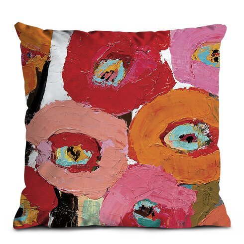 Brown Stemmed Poppies Scatter Cushion
