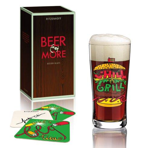Bierglas Beer & More mit Bierdeckeln