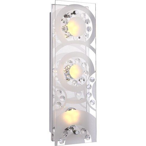 Tisoy 3 Light Flush Wall Light