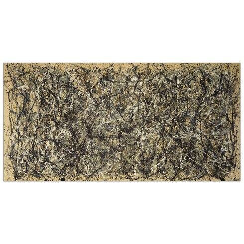 'One Number 31, 1950' by Pollock Art Print Plaque
