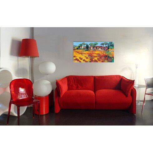 'Rouge ET or' by Keiflin  Art Print Plaque