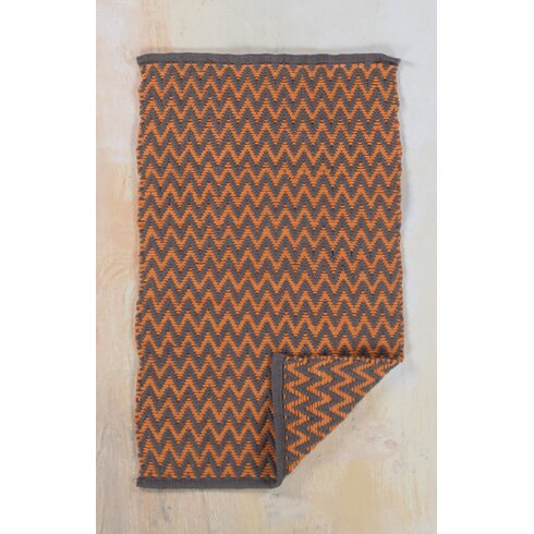 Hand-Woven Orange Area Rug