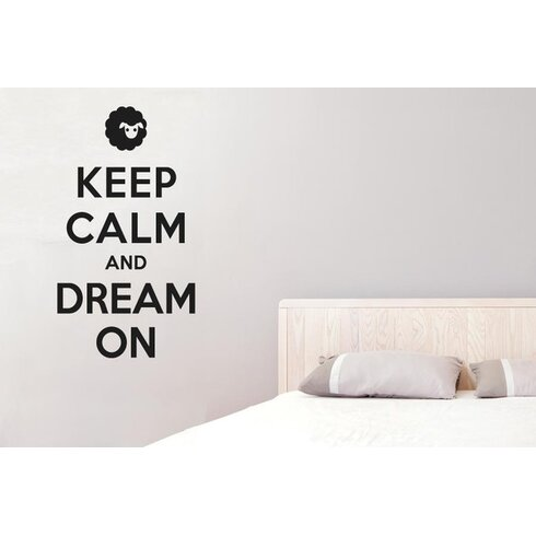 Keep Calm And Dream On Wall Sticker
