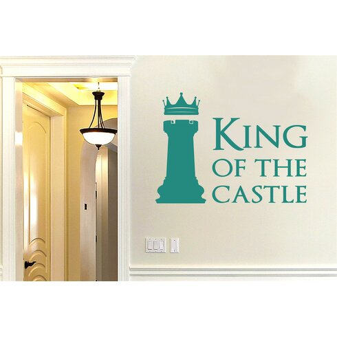 King of The Castle Chess Piece Wall Sticker