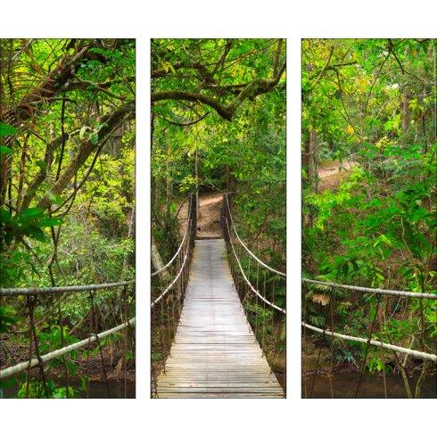 Glasbild The Jungle, Kunstdruck