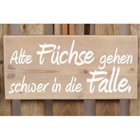 Schild-Set BD-Alte Füchse, Typographische Kunst