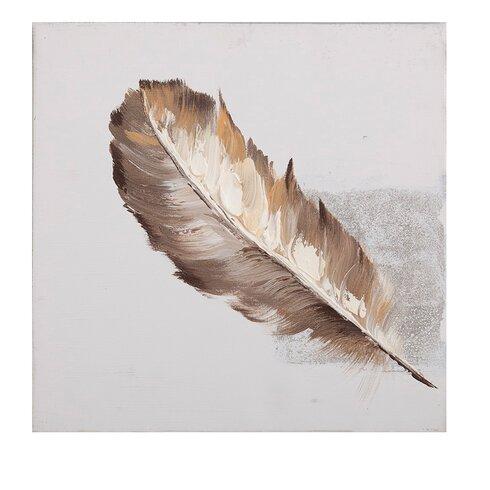 Feather Art Print on Canvas