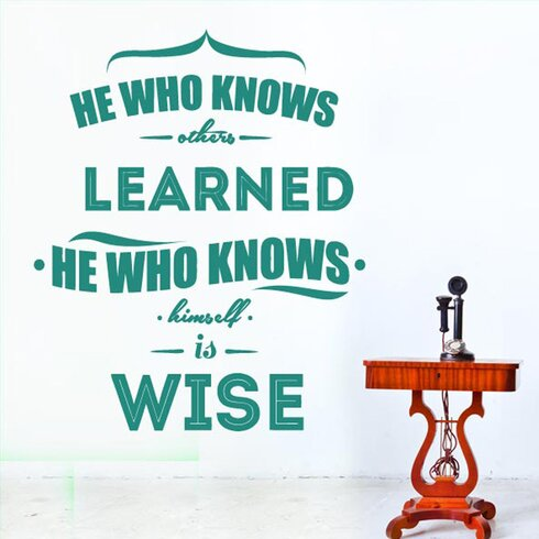 He Who Knows Others Learned Wall Sticker