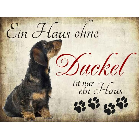 Dackel Graphic Art Plaque