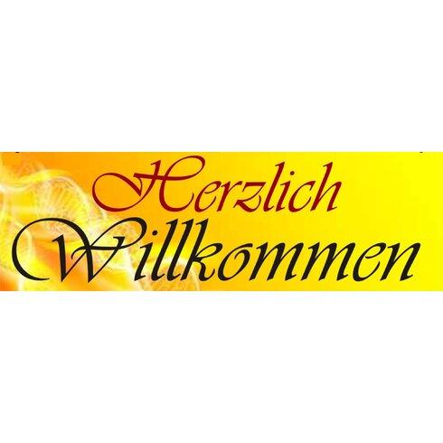Herzlich Willkommen Typography Plaque