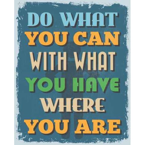 Do What You Can Typography Plaque
