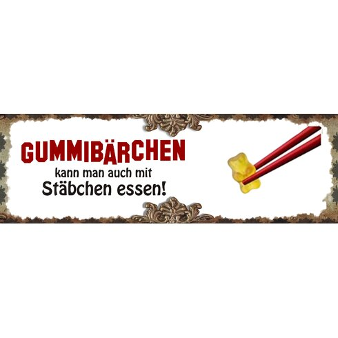 Gummibärchen Graphic Art Plaque