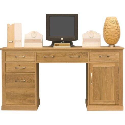 Mobel Oak Computer Desk with Keyboard Tray