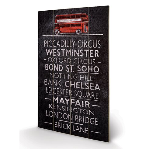 London Bus Blind by Barry Goodman Typography Plaque