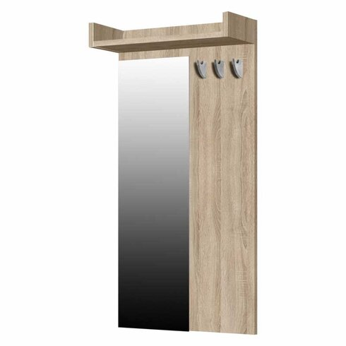 L'Hombre Standard 7 Hook Wall Mounted Coat Rack
