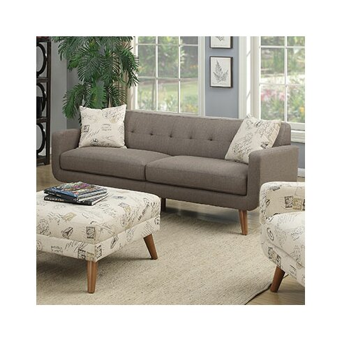 Latitude Run Mid Century Modern Sofa with accent pillows & Reviews Wayfair