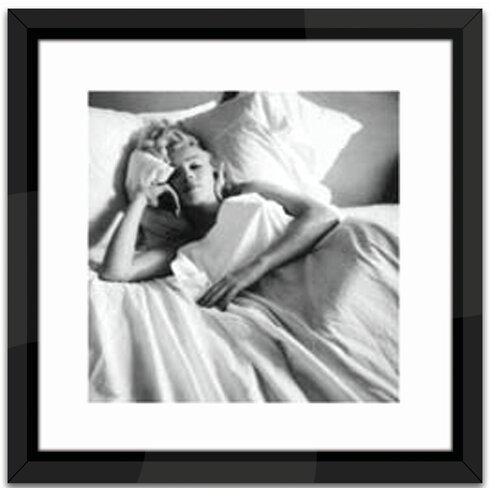 Marilyn Monroe, Bed Framed Photographic Print