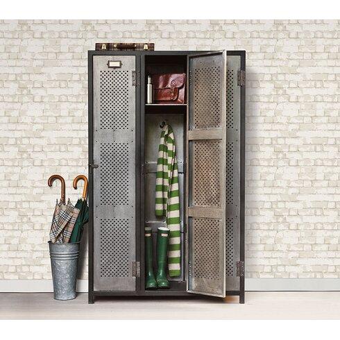 Steampunk 10m L x 53cm W Brick, Wood and Stone Roll Wallpaper