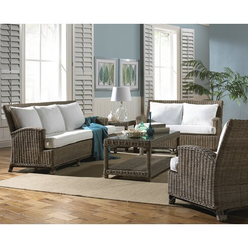 Panama jack sunroom exuma 5 piece living room set for Living room 5 piece sets