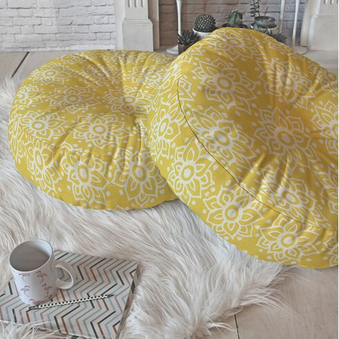 Yellow Floor Pillow