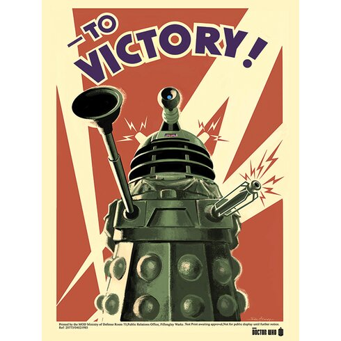 Doctor Who - Victory Vintage Advertisement Canvas Wall Art