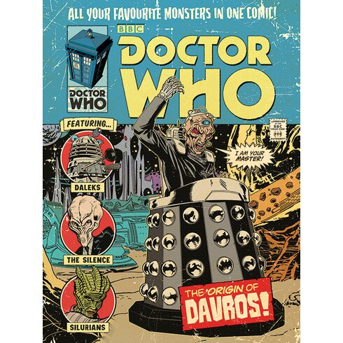 Doctor Who - The Origin of Davros Vintage Advertisement Canvas Wall Art