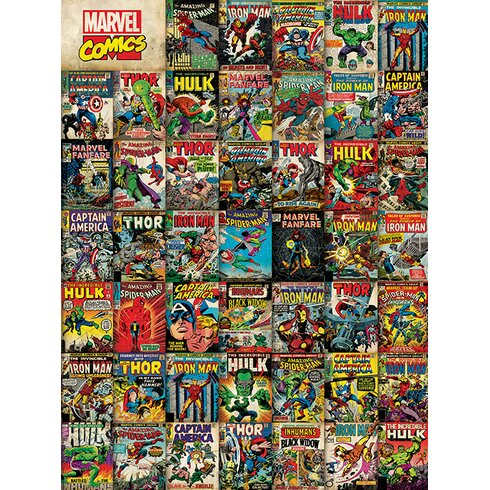 Marvel Avengers Covers Vintage Advertisement Canvas Wall Art
