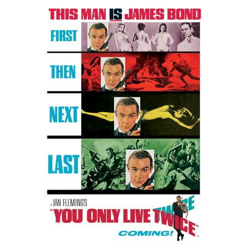Bond You Only Live Twice - Teaser Vintage Advertisement Canvas Wall Art