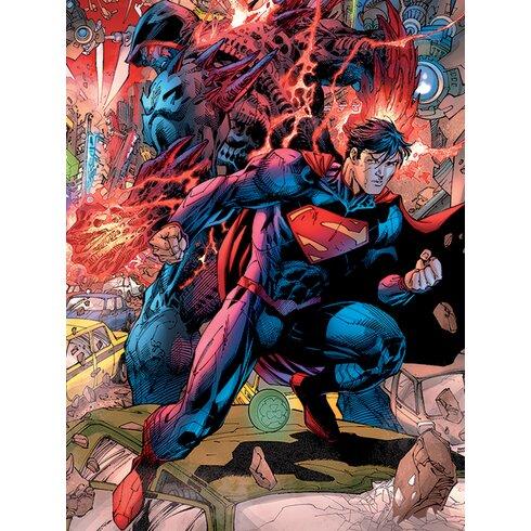 Superman - Wraith Brawl Canvas Wall Art