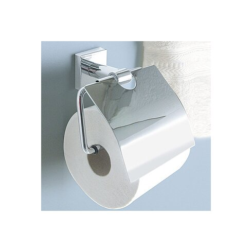 Quaruna Wall Mounted Toilet Roll Holder with Flap