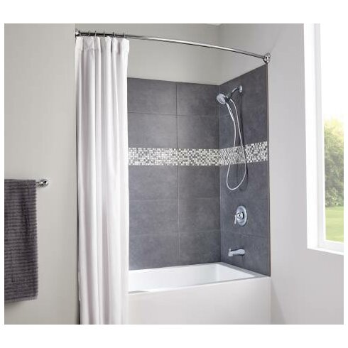Moen Decorative 72 Adjustable Curved Fixed Shower Curtain Rod Reviews Wayfair