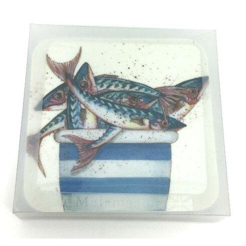 Pot of Mackerel Melamine Coaster