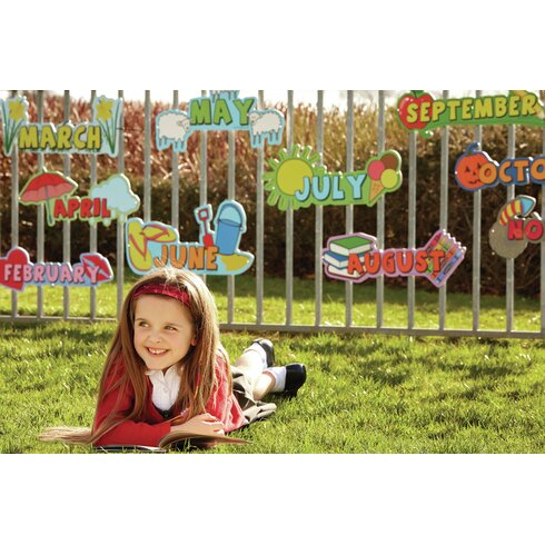 12 Piece Months of The Year Wall Plaque Set