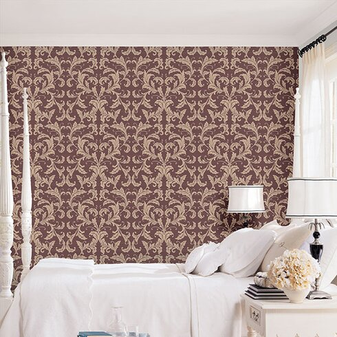 Vintage Damasks 10m L x 53cm W Floral and Botanical Roll Wallpaper