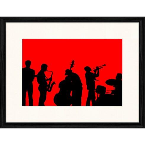 Jazz Compostion 10 Framed Graphic Art