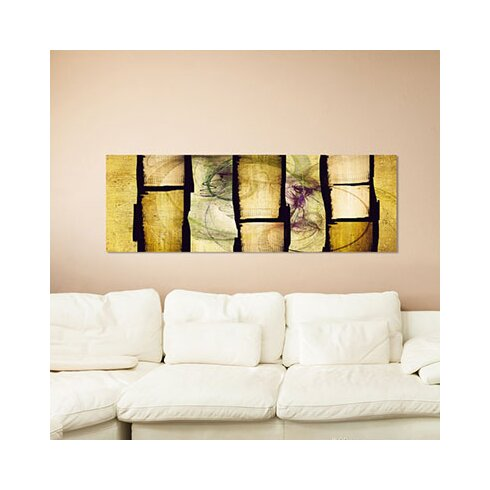 Enigma Panorama Abstrakt 382 Framed Graphic Print on Canvas