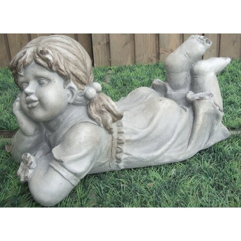 Girl Thinking Statue